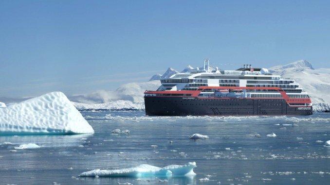 Die Roald Amundsen wird auch in der Antarktis fahren. Grafik: Hurtigruten