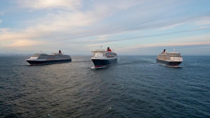 Die Cunard-Flotte. Foto: James Morgan