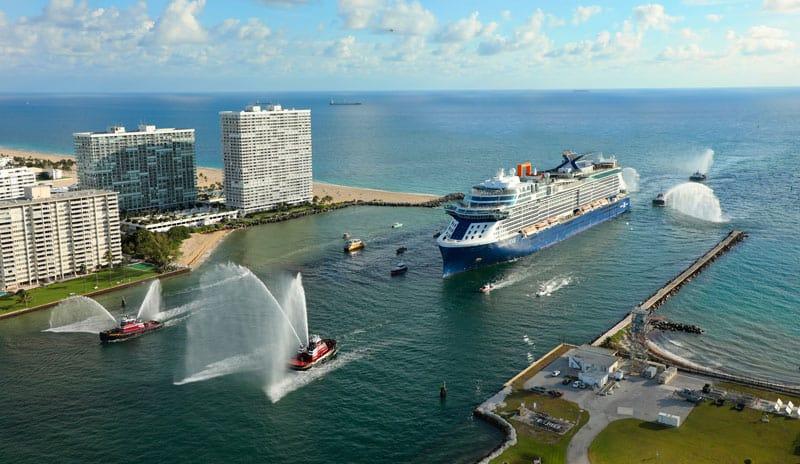 Die Celebrity Edge erreicht den Hafen von Fort Lauderdale - Port Everglades