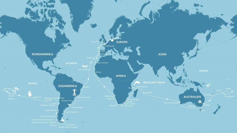 AIDA Weltreise mit AIDAaura 2020-2021