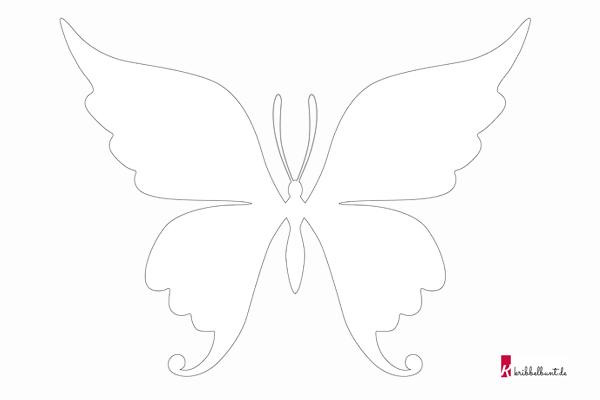 Ausmalbild Schmetterling » Malvorlage Schmetterling