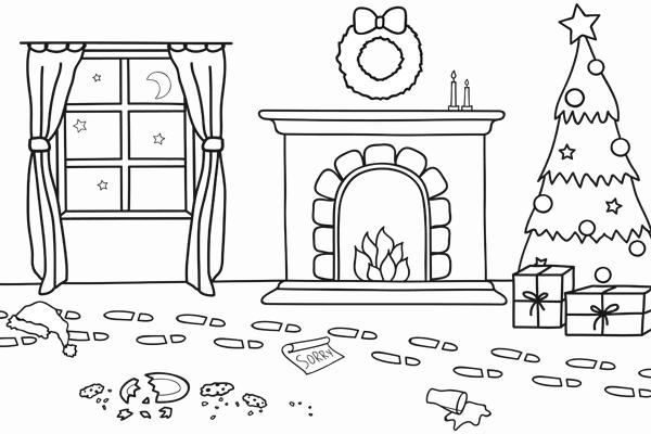 Ausmalbild Weihnachten » Malvorlage Weihnachten - Kribbelbunt