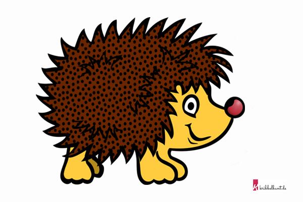 Igel Vorlage » Igel Schablone Kribbelbunt