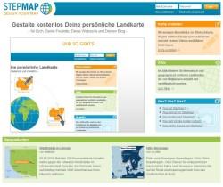 StepMap Webseite