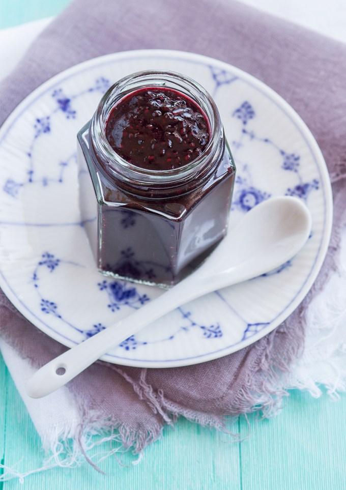 Chiasylt med blåbär och vanilj