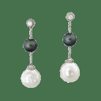Black and White Pearl Earrings