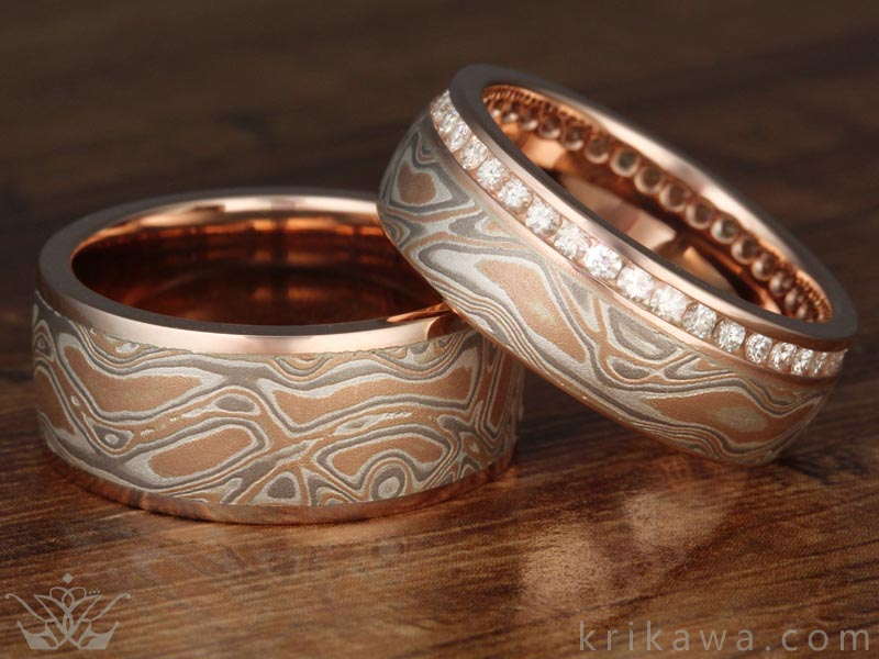 Mokume Gane Choices Mokume Rings By Krikawa