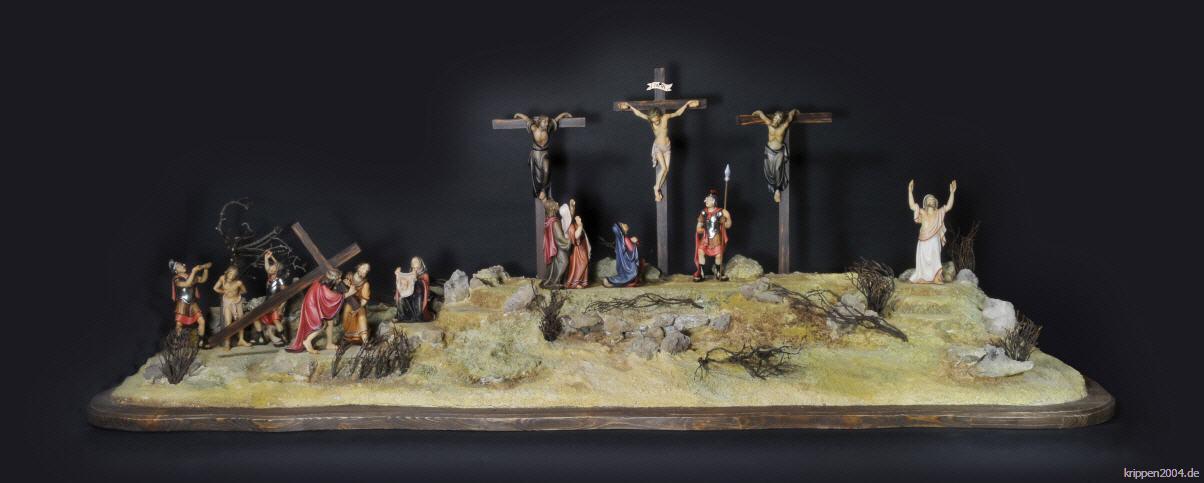 Passionskrippnfiguren aus Holz Osterkrippe geschnitzt geschnitzte Osterkrippe geschnitzte