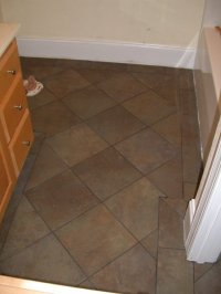Bathroom tile flooring | Kris Allen Daily