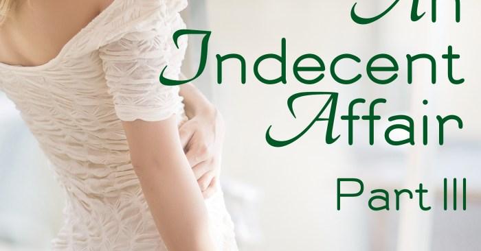 COVER REVEAL: AN INDECENT AFFAIR PART III by Stephanie Julian