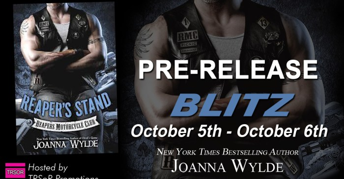 PRE-RELEASE DAY BLITZ & GIVEAWAY: REAPER'S STAND by Joanna Wylde