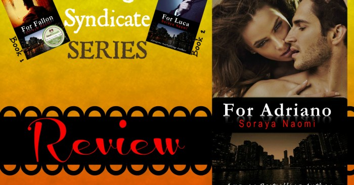 REVIEW: FOR ADRIANO by Soraya Naomi