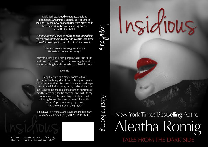 *NEW* COVER REVEAL: INSIDIOUS by Aleatha Romig