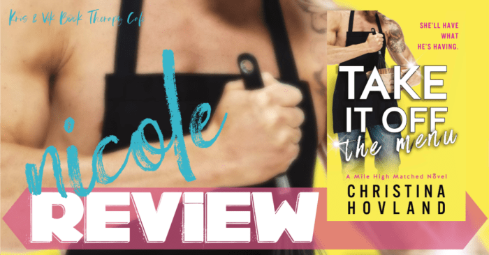 ✔ #NewRelease REVIEW: TAKE IT OFF THE MENU by Christina Hovland