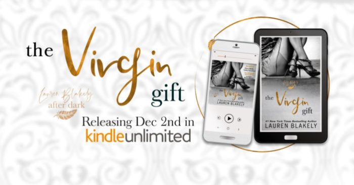 COVER REVEAL: THE VIRGIN GIFT by Lauren Blakely