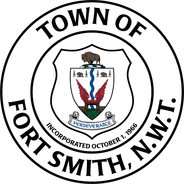 Town of Fort Smith (Silk Screened on white coated aluminum - 6' diameter)