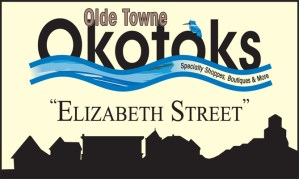 Elizabeth Street Sign, Town of Okotoks