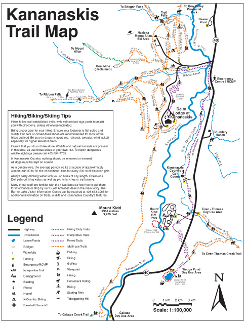 Kananaskis Country Trail Map