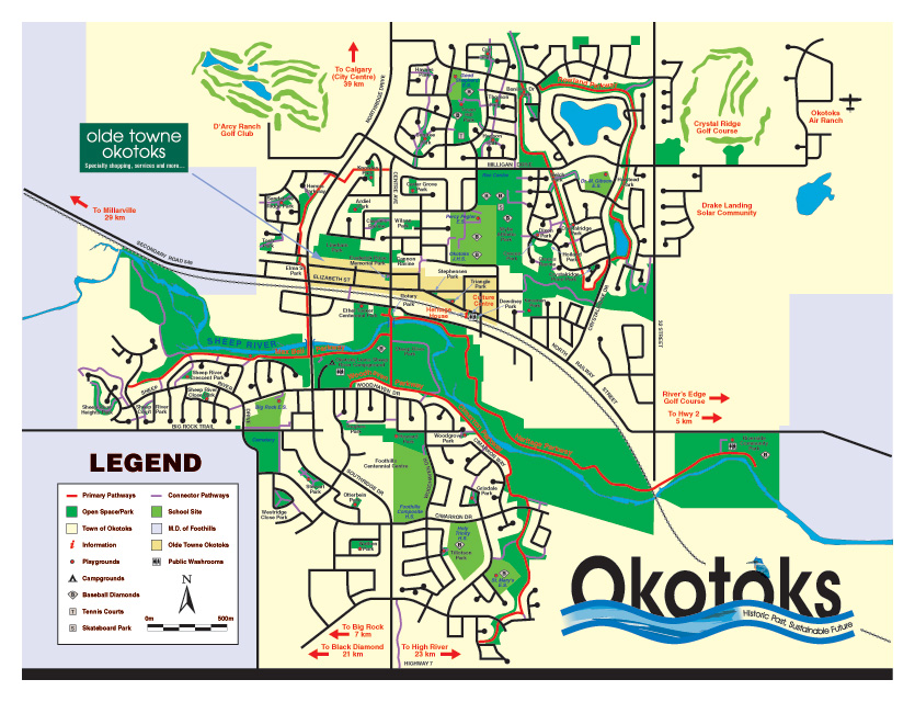 Town of Okotoks Pathways Map