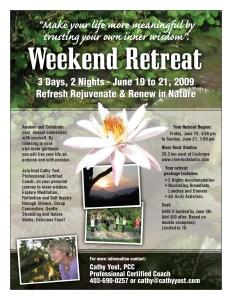 Cathy Yost Summer Retreat