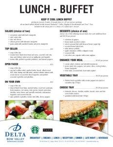 Delta Bow Valley Catering Menu