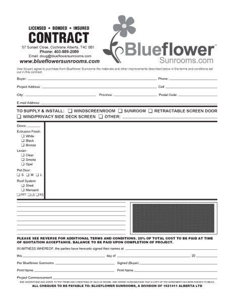 Blueflower 3 part NCR