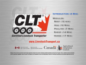 Canadian Livestock Transport Training Video (5 videos: DVD and Video Footage/Production)