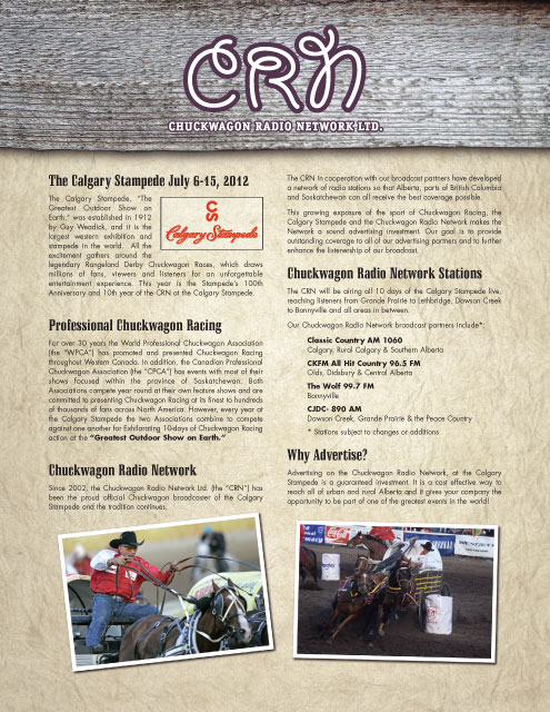 CRN Promotional Package 2012