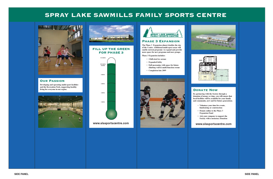 Spray Lake Sawmills Family Sports Centre Booth