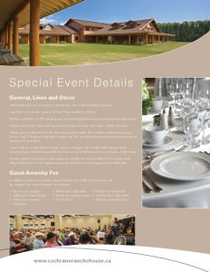 Town Cochrane Corporate Meetings and Events Promotional Package