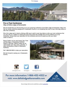 Delta Lodge at Kananaskis Email Newsletter