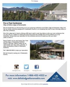 Delta Lodge at Kananaskis Email Newsletter
