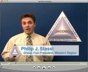 Jacobs Engineering New Employee Training Video (DVD and Video Footage/Production)