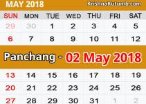 Panchang 02 May 2018