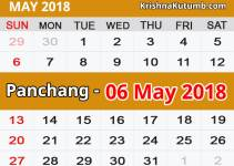 Panchang 06 May 2018