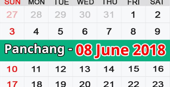 Panchang 08 June 2018