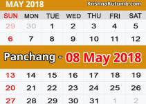 Panchang 08 May 2018