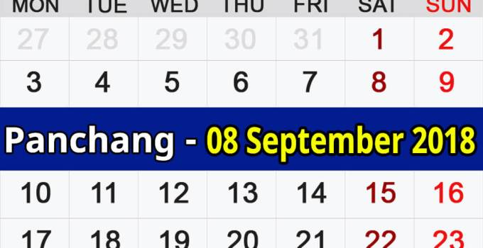 Panchang 08 September 2018