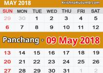Panchang 09 May 2018