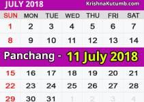Panchang 11 July 2018