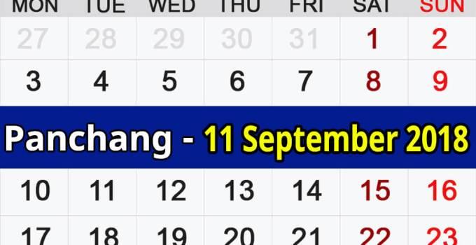 Panchang 11 September 2018
