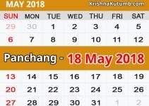 Panchang 18 May 2018