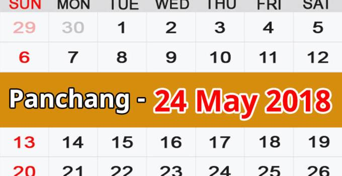 Panchang 24 May 2018