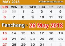 Panchang 26 May 2018