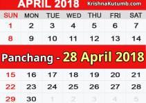 Panchang 28 April 2018