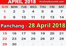 Panchang 28 April 2018