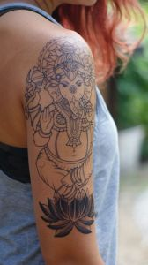 Ganesha Outline Tattoo