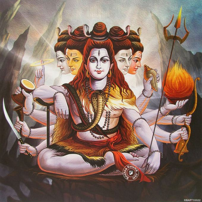 Panchamukhi Shiva - Krishna Kutumb