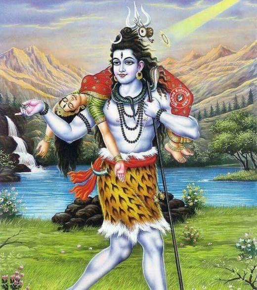 Shiva Carrying Sati - Krishna Kutumb