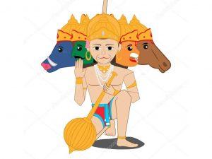 Panchmukhi Hanuman Image clipart - Krishna Kutumb™